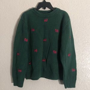 67 J Khaki Train sweater. Sz7